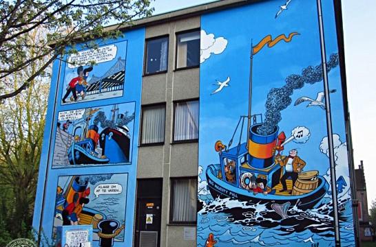 Comic Walls in Antwerp Belgium
