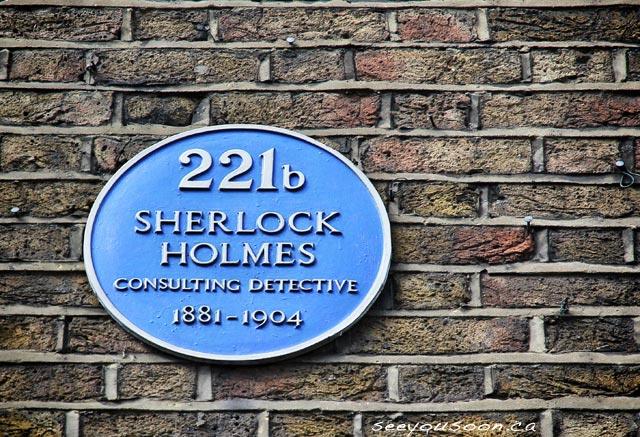 Sherlock Holmes Plaque London