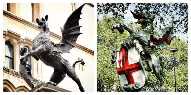 Dragons mark city centre in London